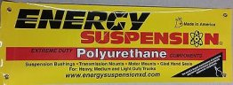 "Energy Suspension 9.20103 Yellow Promotional Banner 36"" Wide x 12"" Tall"