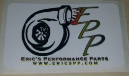 "EPP Decal White Rectangular 1.5"" x 2.5 Static Cling 2 Window Racing Turbo Drift"