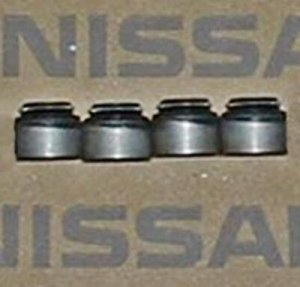 Nissan OEM Valve Seals 7mm for KA24E SOHC Exhaust S13 Set-of-4