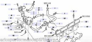 Nissan 14060-24U00 OEM Regulator to Manifold Hose RB26DETT R32 R33 R34 JDM New
