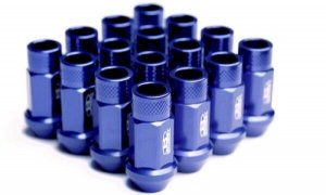 BLOX BXAC-00104-SSBL 7075 Aluminum Lug Nuts Blue M12 X 1.50 Set-Of-20