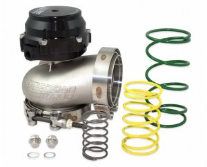 PTE 085-3500 External Wastegate Kit 66mm Black CO2 Control Turbo Boost